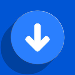 download blue web flat icon