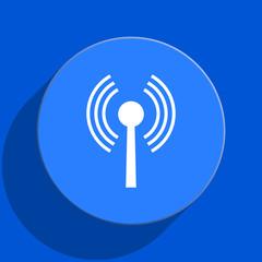 wifi blue web flat icon