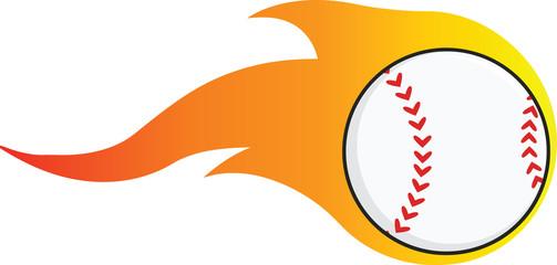Flaming Baseball Ball