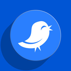 twitter blue web flat icon
