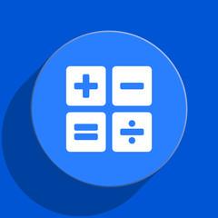 calculator blue web flat icon