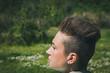Portrait of a short hair girl
