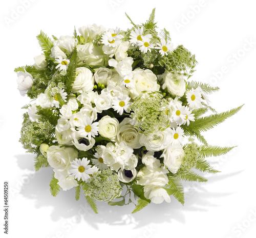 canvas print picture Blumenstrauß in Weiß