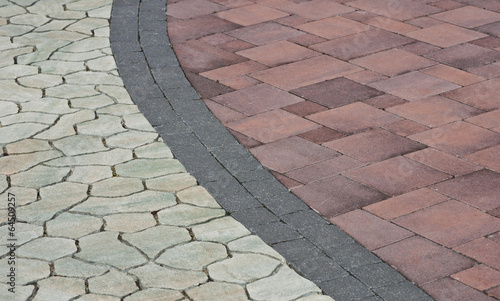 pattern on the pavement - 64509257
