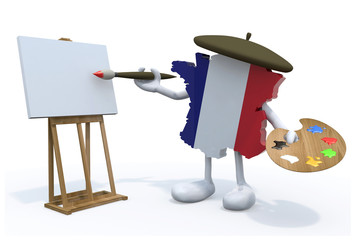 Map of France painter