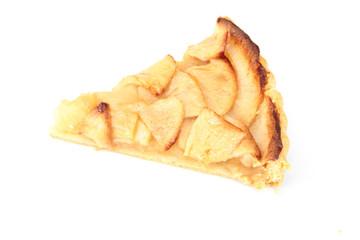 part de tarte aux pommes