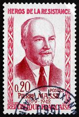 Postage stamp France 1960 Pierre Masse, Hero