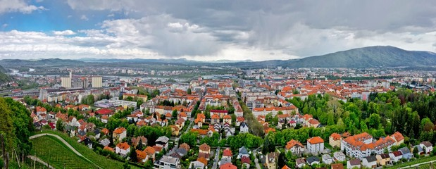 Panoramic view of Maribor