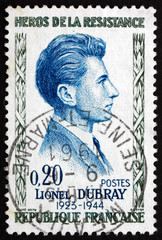 Postage stamp France 1961 Lionel Dubray, Hero
