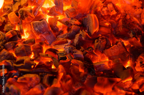 canvas print picture Hot coals in the fire