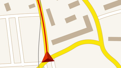 GPS navigation concept. Looped animation