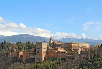 The Alhambra in Granda, Spain