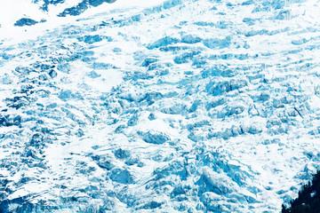 White glacier on Mont Blanc