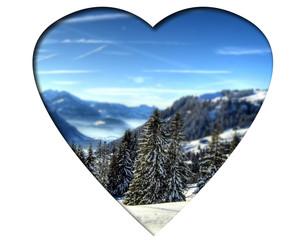 Weisses Herz - Alpen