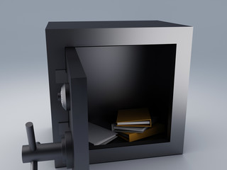 Office folder safe. security concept