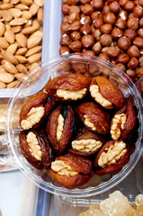 Dried dates stuffed with pistachios