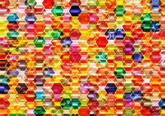 Colorful Hexagonal Background.