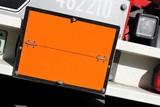 neutrale orangefarbene Gefahrentafel