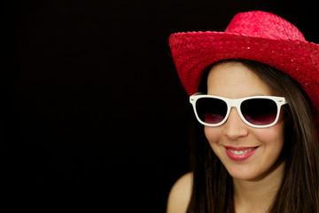 Cowgirl mit Sonnenbrille