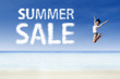 High jump for summer sale at beach