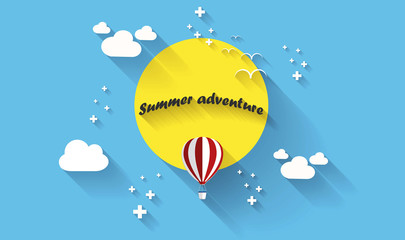 Summer adventure poster. Vector