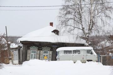 A winter scene in Tobolsk, Russia