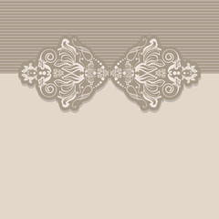 ribbon ornament greeting cards