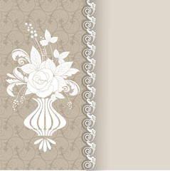 greeting card with a floral pattern