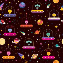 aliens space pattern