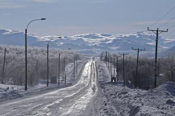 Winterliche Strasse