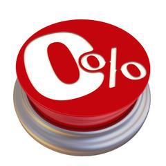 0% (ноль процентов). Надпись на круглой красной кнопке