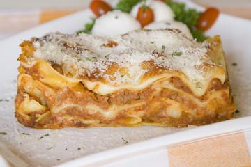 Lasagne Bolognese.