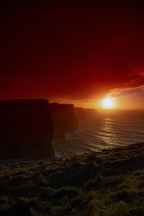 Cliffs of Moher at sunset in Co. Clare Ireland Europe