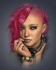Mohawk Lady, 3d CG