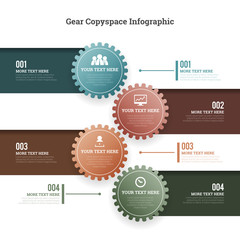 Gear Copyspace Infographic