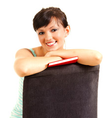 student girl with book