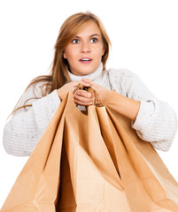 shopping girl with paper bags