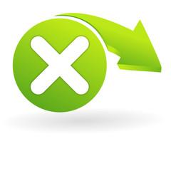 annuler sur web symbole vert