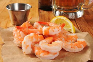 Shrimp and cocktail sauce
