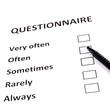 Chalk drawing - Questionnaire concept