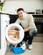 guy  with washing machine