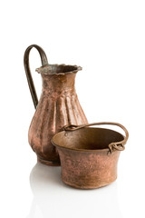 Copper Jug and Bowl