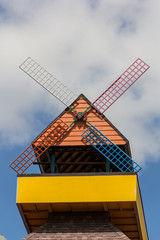 Colorful windmill  home