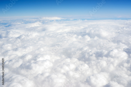 Cloud Cover Blue Sky Stratosphere Vertical Composition Clear