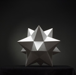Abstract geometric shape from pyramids