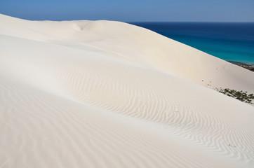 Дюны в Архер на берегу Аравийского моря на острове Сокотра