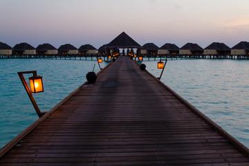 Scenery of early morning,Maldibes
