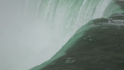 Edge of the Horseshoe Fall in Niagara Falls