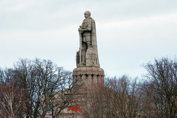 The Bismarck Monument in Hamburg, Germany