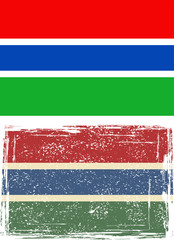 Gambia grunge flag. Vector illustration.